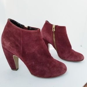 Steve Madden booties Boots suede ankle size 9